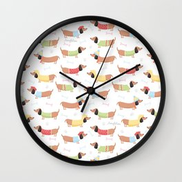 Cute Bassotti Wall Clock