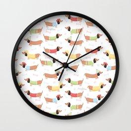 Cute Bassotti Wall Clock