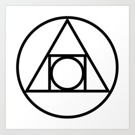 Alchemy — The Philosophers Stone Squared Circle Art Print