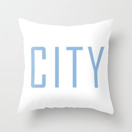 City Powder Blue Throw Pillow