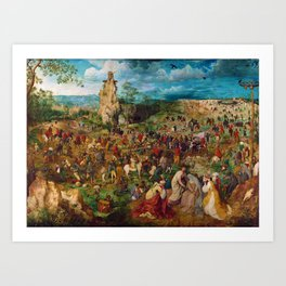 The Procession to Calvary by Pieter Bruegel the Elder (1564) Art Print