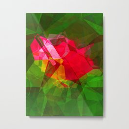 Pink Roses in Anzures 3 Abstract Polygons 1 Metal Print