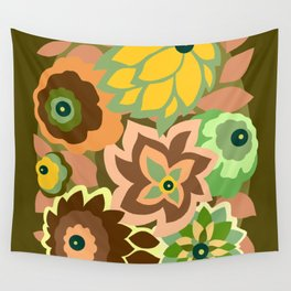 CAMBRIA, ART DECO FLORALS: EARLY AUTUMN Wall Tapestry