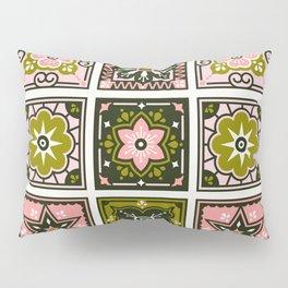 Talavera Mexican Tile – Blush & Sage Palette Pillow Sham