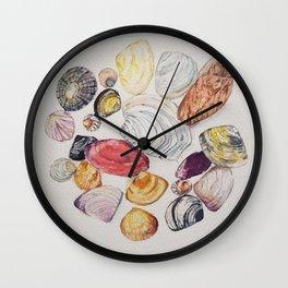 Circle of Shells Wall Clock