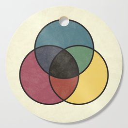 Matthew Luckiesh: The Subtractive Method of Mixing Colors (1921), vintage re-make Cutting Board