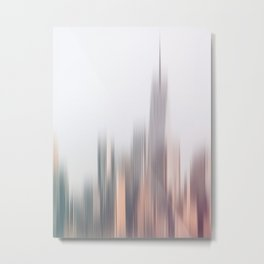 Abstract New City Skyline Motion Blur Metal Print