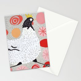 Mosaic Running Chicken Stationery Cards