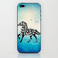 The Scorpio Races quote design iPhone & iPod Skin