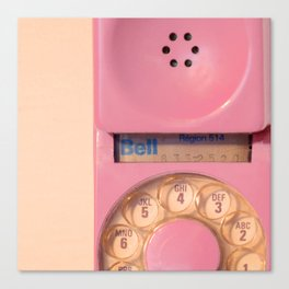 Pink Hotline Canvas Print