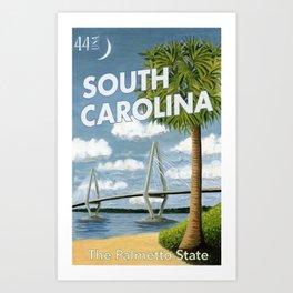 South Carolina Postage Stamp Art Print