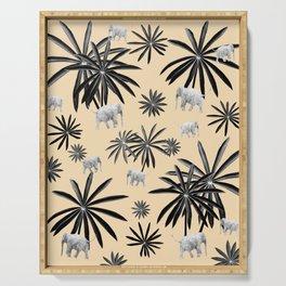 Palm Tree Elephant Jungle Pattern #2 (Kids Collection) #decor #art #society6 Serving Tray