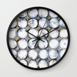 WATERCOLOUR DISCS: White Howlite Wall Clock