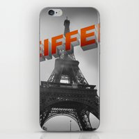 eiffel iPhone & iPod Skins featuring Eiffel by Vin Zzep
