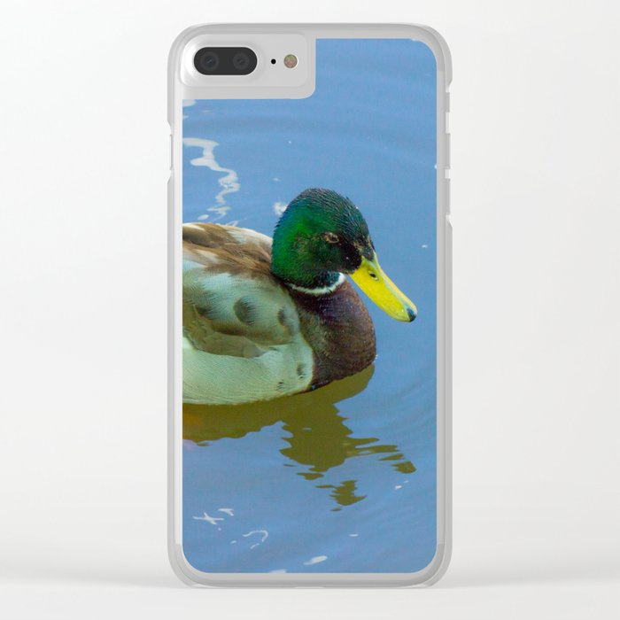 Ducks swimming Clear iPhone Case