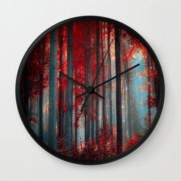 Magical trees Wall Clock