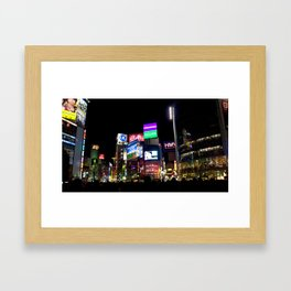 Shibuya's crossing Framed Art Print