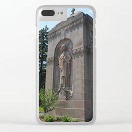 Calvary Cemetery Angel Clear iPhone Case