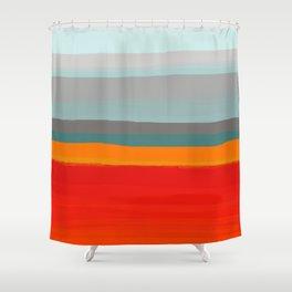 Rustic Stripes Shower Curtain