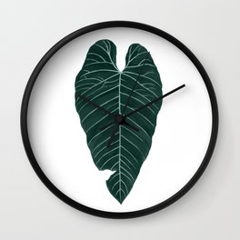 cold leaf Wall Clock