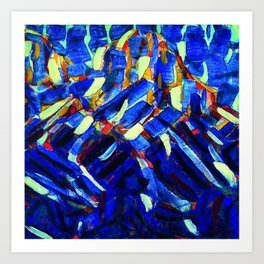 Christian Rohlfs Blue Mountain Art Print
