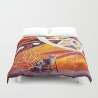 artsy Duvet Covers featuring Artsy Dog by Coconuts & Shrimps