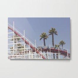 Santa Cruz Rollercoaster Metal Print