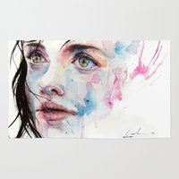 agnes Area & Throw Rugs featuring just one in a thousand by agnes-cecile