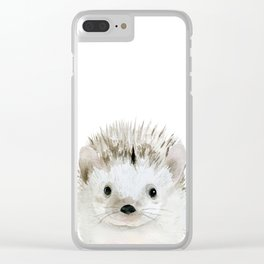 Hedgehog. Clear iPhone Case