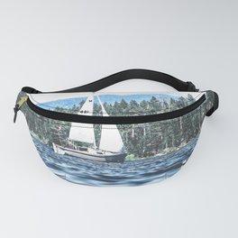 Calm Lake Sailboat Fanny Pack