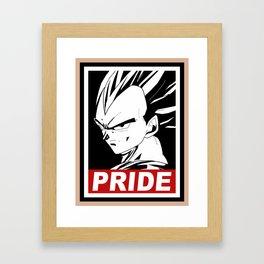 Vegeta pride Framed Art Print