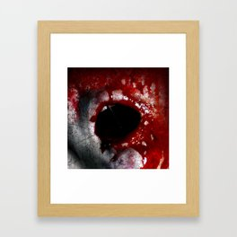 Bloody Mouth Framed Art Print
