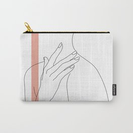 Hands line drawing illustration - Danna stripe Carry-All Pouch