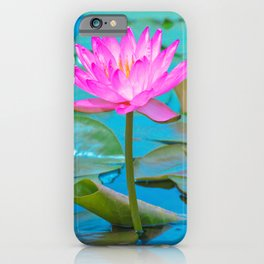 Pink Water Lily Flower - Nature Photography iPhone Case