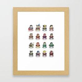 pixel comics Framed Art Print