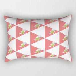 Running Polar Bear Triangle Rectangular Pillow