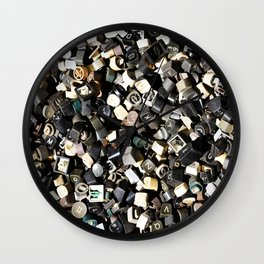 Letter Buttons Wall Clock