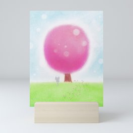 Beneath the Sakura Tree Mini Art Print