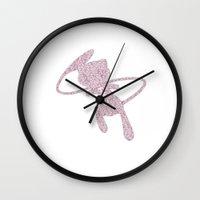 mew Wall Clocks featuring Mew by Gaetan Ducroq