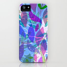 modern leaves pattern iPhone Case