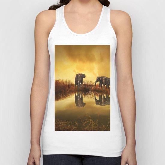 The Herd (Elephants) Unisex Tank Top