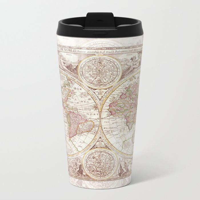 An Accurate Map Metal Travel Mug