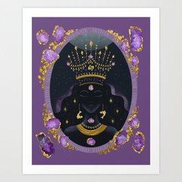 Pisces Zodiac Queen | February Birthday | Amethyst Birthstone Art Print