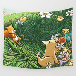 Roll on Flowers Wall Tapestry