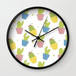 Cute Cactuses Wall Clock