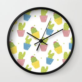 Cute Cactuses Wall Clock