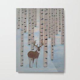 Winter Birch Metal Print