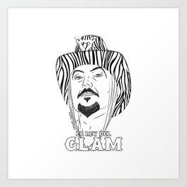 El Rey del Glam Art Print