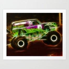 Magical Grave Digger Monster Truck Art Print