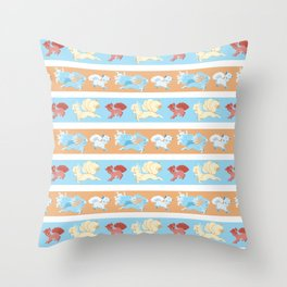 Vulpix and Ninetales Stripe Throw Pillow
